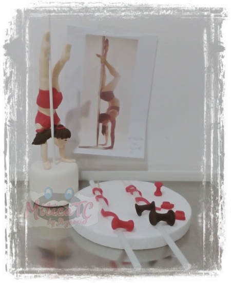 Set Topper Ballerina Pole Dance